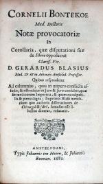 Notae provocatoriae In Corollaria, quae disputationi suae de Ictero...