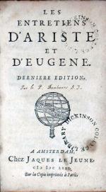 Les Entretiens D'Ariste et D'Eugene. Derniere Edition