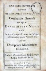 Experimentorum Novorum Physico-Mechanicorum Continuatio Secunda