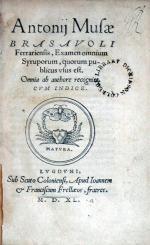 Examen omnium Syruporum, quorum publicus vsus est