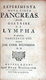 Experimenta Nova Circa Pancreas. Accedit Diatribe de Lympha & genuino Pancreatis Usu