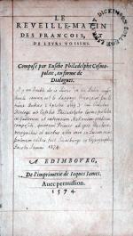 Le Reveille-Matin Des Francois, Et De Levrs Voisins