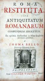 Roma Restituta, sive Antiquitatum Romanarum compendium absolutum