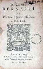 De Vtilitate legende Historiae