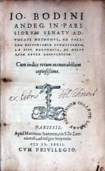 Methodvs, Ad Facilem Historiarvm Cognitionem