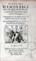 Histoire Memorable de ce qvi s'est passé tant en France...