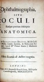 Ophthalmographia, Sive Oculi Ejusque partium descriptio Anatomica