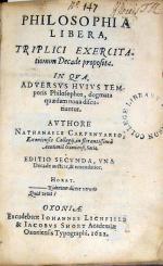 Philosophia Libera, Triplici Exercitationum Decade proposita