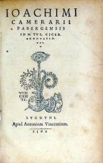In M. Tvl. Cicer. Annotationes