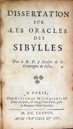 Dissertation Sur Les Oracles Des Sibylles