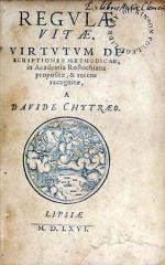 Regvlae Vitae. Virtvtvm Descriptiones Methodicae