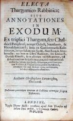 Electa Thargumico-Rabbinica; Sive Annotationes in Exodum
