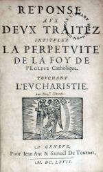 Réponse Avx Devx Traitez Intitvlez La Perpetvité De La Foy...