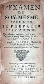 L'Examen de Soy-Mesme Pour Bien Se Preparer A La Communion