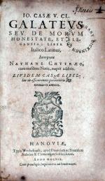 Galatevs Sev De Morvm Honestate, et Elgantia...
