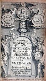 Recveil Des Traittez De Paix, Treves Et Nevtralité Entre Les Covronnes...