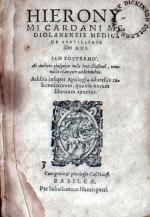 De Svbtilitate libri XXI..Addita insuper Apologia aduersus calumniatorem...