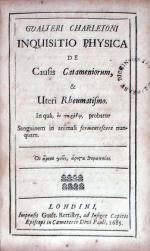 Inquisitio Physica De Causis Cantameniorum, & Uteri Rheumatismo