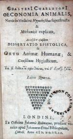 Oeconomia Animalis, Novis in Medicina Hypothesibus superstructa...