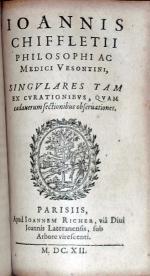 Singvlares Tam Ex Cvrationibvs, Qvam cadauerum sectionibus...