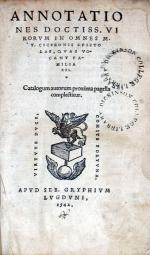Annotationes Doctiss. Virorvm In Omnes.Epistolas, qvas vocant familiares