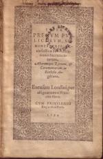 Liber Precvm Pvblicarvm, Sev Ministerii Ecclesiasticae...