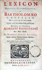 Lexicon Medicum Graeco-Latinum,..Tertiâ quidem sui parte auctius