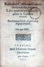 De Curiali siue Aulico Libri quatuor ex Italico sermone in Latinum conuersi