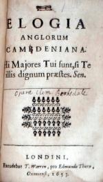 V. Cl. Elogia Anglorum Cambdeniana