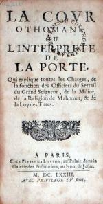 La Covr Othomane, Ou L'Interprete De La Porte