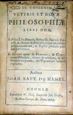 De Consensu Veteris Et Novae Philosophiae