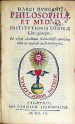 Philosophiae Et Med. D. Institvtionis Logicae