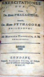 Exercitationes Duae: Prima, De Aetate Phalaridis; Secunda, De Aetate...
