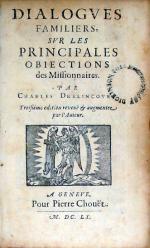 Dialogves Familiers, Svr Les Principales Obiections des Missionnaires