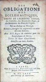 Des Obligations Des Ecclesiastiques, Tirées De L'Ecriture Sainte...