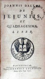 De Jejuniis, Et Quadragesima. Liber