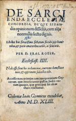 De Sarcienda Ecclesiae Concordia...