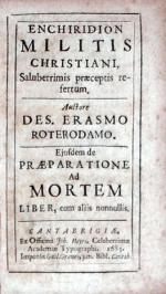 Enchiridion Militis Christiani, Saluberrimis praeceptis refertum...