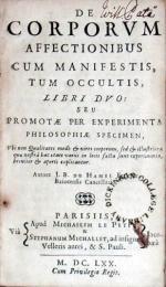 De Corporvm Affectionibus Cum Manifestis, Tum Occultis, Libri Dvo: Seu...