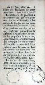 Observations Sur Les Eaux Minerales de Plusieurs Provinces De France...