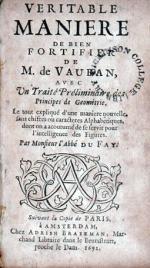 Veritable Maniere de bien Fortifier de M. de Vauban...