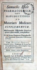 Pharmacologiae, Seu Manuductionis Ad Materiam Medicam Supplementum: .Editio Altera