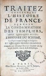 Traitez Concernant L'Histoire De France: Sçavoir La Condamnation...