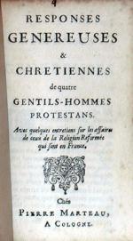 Responses Genereuses & Chretiennes...