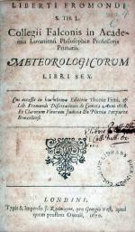 Meteorologicorum Libri Sex. Cui accessit in hac ultima Editione...