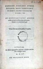 De Rebvs Gestis Gallorvm Libri IX... (Tertia editio.)