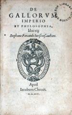 De Gallorvm Imperio Et Philosophia