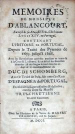 Memoires…Contenant L'Histoire de Portugal, Depuis le Traité des...