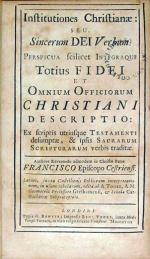 Institutiones Christianae: Seu, Sincerum Dei Verbum, Perspicua scilicet...