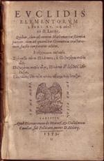 Elementorvm Libri XV. Graecè & Latine